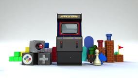 Fallng różnorodna konsola, pecet, mobilne gier zawartość, rozrywek zawartość ilustracja wektor