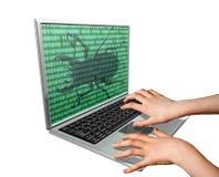 Fallo de funcionamiento del ordenador Imagen de archivo libre de regalías