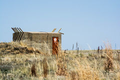 Fallout. Bunker out at the wildlife refuge in Colorado Royalty Free Stock Photos