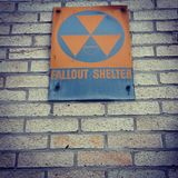 Fallout shelter. Old fallout shelter in an abandoned building Stock Photo
