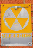 Fallout Shelter. Once common site of a fallout shelter on the Roseburg Post Office building in Roseburg Oregon Royalty Free Stock Photos