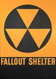 Fallout Shelter Sign. The official Black and Yellow Fallout Shelter Sign Royalty Free Stock Photography
