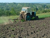 Fallow plowing Stock Images