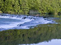 Falls. On river Mreznica in Croatia Royalty Free Stock Image
