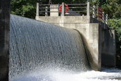 Falls. Manmade waterfalls to control the path and flow of the waterways stock images