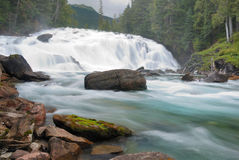 Falls at Bowron Lake Royalty Free Stock Images
