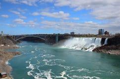 falls and bridge Royalty Free Stock Photos