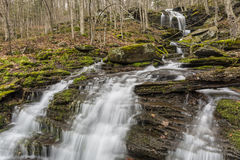 Falls on Bushnellsville Creek. A seasonal Catskills waterfalls on Bushnellsville Creek below Halcott Mountain near Bushnellsville in the Catskill Mountains of Stock Image