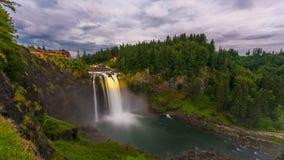 Falls City, Washington, USA at Snoqualmie Falls stock footage