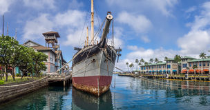 Falls of Clyde on August 6, 2016 in Honolulu Harbor Stock Photo