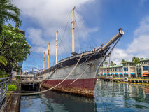Falls of Clyde on August 6, 2016 in Honolulu Harbor Royalty Free Stock Photos