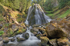 Falls Creek Falls Middle Tier. At Gifford Pinchot National Forest in Washington State Royalty Free Stock Images
