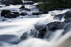 Falls of Dochart. Long exposure of cascading waterfall in Scotland Stock Photos