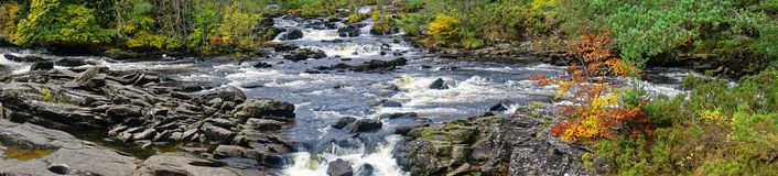 Falls of Dochart in Autumn Royalty Free Stock Photo