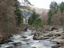 Falls of Dochart. A Scottish river stock image