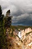 falls fäller ned floden yellowstone Arkivbilder