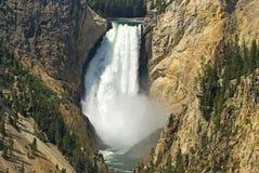 falls fäller ned nationalparken yellowstone Arkivfoto