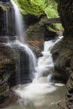 Falls för Watkins Glenregnbåge Arkivfoto