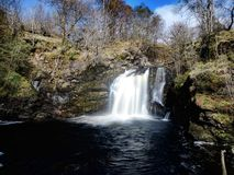 The falls of Falloch. Beautiful waterfall in the Scottish highlands royalty free stock photography