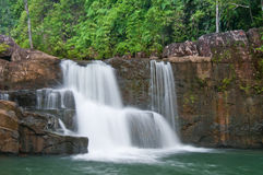 Falls in the forest. The beautiful in the Big Falls in the forest Royalty Free Stock Images