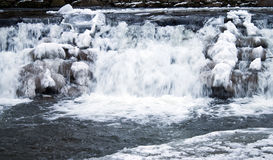 Falls frozen in winter Stock Images