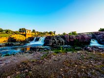 Sioux Falls Park at sunset Royalty Free Stock Photography