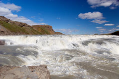 Falls Gulfoss. View of waterfalls in Iceland Stock Photography