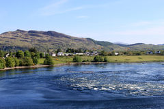 Falls of Lora with incoming tide, Loch Etive Royalty Free Stock Photos