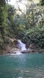 Mag-Aso Falls, Bohol, Filipino. This falls are the most important of the Bohol island stock photography