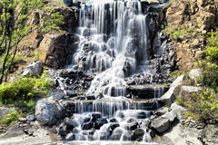Falls in mountains Royalty Free Stock Photos