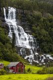 Falls in mountains of Norway after rain Stock Photo