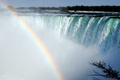 Falls of niagara. Nice Niagara falls rainbow view royalty free stock photos