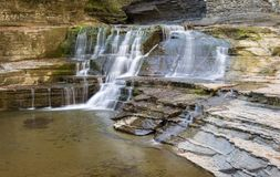 Falls by the Old Mill, Robert H. Tremen State Park, Ithaca NY Royalty Free Stock Image