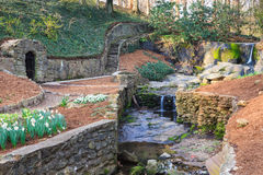 Falls Park Garden Downtown Greenville South Carolina Royalty Free Stock Photos