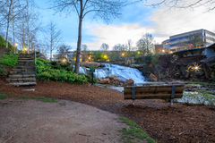 Falls Park on the Reedy Greenville South Carolina Royalty Free Stock Photo