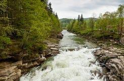 Falls Probiy in Yaremche, Carpathians, Ukraine Royalty Free Stock Photo