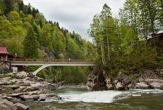 Falls Probiy in Yaremche, Carpathians, Ukraine Stock Photo