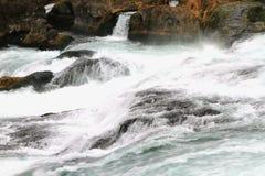 Falls on river Rein. Neuhausen, Switzerland Royalty Free Stock Images