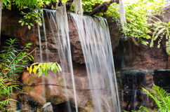 Falls of rocks in the woods. Royalty Free Stock Photos