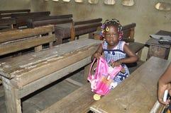 FALLS SCHOOL IN IVORY COAST Royalty Free Stock Photo