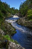 Falls of Shin in Scotland in United Kingdom Stock Image