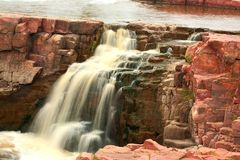 The Falls of the Sioux River. Part of the falls of the Sioux River in Sioux Falls, South Dakota Royalty Free Stock Photos