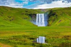 The falls Skogafoss Stock Images