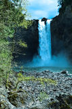 Falls Twin Peaks in the northern part of America Royalty Free Stock Photos