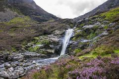 Falls of Unich. Glen Lee, Angus, Scotland, UK royalty free stock photo