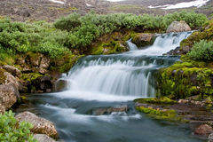 Falls with velvet water Royalty Free Stock Images