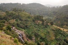 Falls on the way to Mount Ella Rock. Sri Lanka. Stock Images