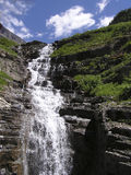 Falls of the Weeping Wall. Weeping Wall on  Going-to-the-Sun Road, Parc national Glacier, Montana Stock Images