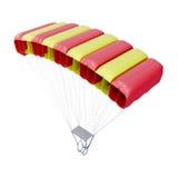 Fallschirm auf weißem Hintergrund 3d übertragen image stock abbildung