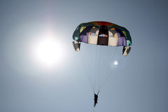 Fallschirm Sun Lizenzfreie Stockfotografie